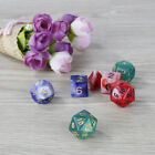 7pcs Set 20-Sided Acrylic Dice 20-Sided Multi-color Game Props Bright Color VBH
