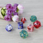 Creative Multi-faceted 7pcs Acrylic Dice 20-Sided Board Game Bright Color VBY
