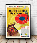 Motorola Hi Fidelity , Vintage advertising poster reproduction.