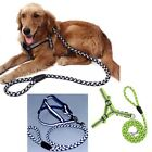 Reflective Nylon Dog Pet Puppy Safty Noctilucent Harness Leash Step-in S M L