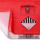 1000 Gauge Pack of HEAVY DUTY Asbestos & Rubble Waste Removal Bags. Red & Clear