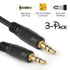 "Gold 3.5mm 1-8"" Stereo Audio Aux Headphone Extension Cable Cord Male to male US"