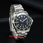 40mm PARNIS black dial date window ceramic bezel miyota 8215 automatic men watch