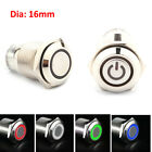 Auto 16mm 1NO 1NC Connection 12V Metal LED Toggle Switch Latching Push Button LJ