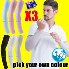 3 Pairs Cooling Sport Arm Stretch Sleeves Sun UV Protection Cover Golf Cycling