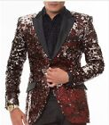 Angelino Red Vegas Fashion Forward Slim Sequin Blazer