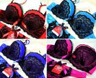 Bra Set Lace Red Pink Blue Turquoise Ladies Underwear Lingerie Push Up Luxury