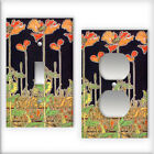 Mucha Poppy Pattern - Light Switch / Outlet Cover All Styles D0020
