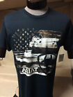 New Mens Western Wear Cowboy T-Shirt Ariat Patriot Flag Navy Blue