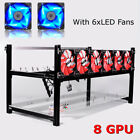 6/8/12/14GPU Crypto Coin Aluminum Open Air Mining Miner Stackable Frame Rig Case