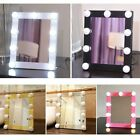 LED Vanity Lighted Hollywood Makeup Mirror Dimmer Stage Touch Beauty Table Lamp