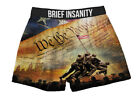 Mens Boxers Shorts Funny Underwear WE THE PEOPLE IWO JIMA FLAG Soft Silky Gift