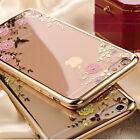 Luxury Clear Crystal Diamond Soft TPU Silicone Phone Case Cover For LG/Huawei