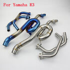51mm Modified Motorcycle Exhaust System Front Section Link Pipe  For Yamaha R3
