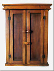 Handmade Rustic Cedar Wood 2 Door Wall Mount Cabinet