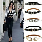 Fashion Vintage Womens Ladies Waist Belt Double Buckle Metal Leather Boho Belt