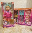 """Jo Jo Siwa My Life 18""""  Doll with Bow Wow Plush Dog;  AND, 3 Outfit Set - NEW !"""
