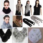 New Warm Fur Rabbit Scarf Women Shawl Scarves Wrap Real Collar Winter Outerwear