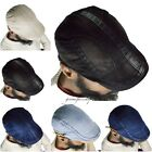 Mens denim flat hats, golf hat, newsboy, beret cabbie Gatsby 100% cotton Hiphop
