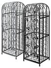 Wrought Iron Wine Rack - Holds upto 45 bottles - Black or Antique Silver