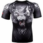 Venum Men's Werewolf Short Sleeve Rash Guard MMA BJJ Black/Grey
