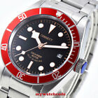 41mm CORGUET black dial Sapphire Glass date miyota Automatic diving mens Watch image