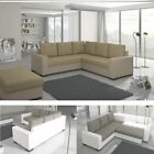 Corner Sofa Canis with Sleep Function and Bed Box in Brown/ Beige Sofa Bed EP043