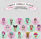 LOL DOLLS SERIES 2 GIRLS  birthday Party cookie or cupcake cake Toppers Cup Cake