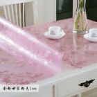 Clear Soft Glass PVC Dinning Table Cover Protector Rectangle Desk Mat Desktop