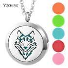 10pcs/lot Essential Oil Locket Necklace 30mm Stainless Steel Magnetic VA-807*10