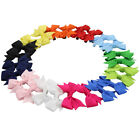 12 Pairs 2* Girl Baby Pinwheel Pigtail Hair Bow Grosgrain Hair Clip Mix 12 Color