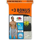 Fruit Of The Loom Men's 8 Pack Gray/Black Boxer Briefs Size 36-38 Large
