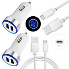 for Samsung Galaxy S10 S9 S8 Note 9 Fast Cell Phone Car Wall Charger TypeC Cable