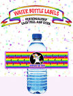 Rainbow Unicorn Dabbing Dab BIRTHDAY PARTY WATER BOTTLE LABEL EASY PEEL & STICK