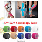 6 Rolls 5M*5CM Kinesiology Tape Support Therapeutic Physio Muscle Strain Injury