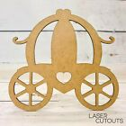 MDF Lasercut Princess Carriage Shape, Blank, Wooden, Childrens, Crafting