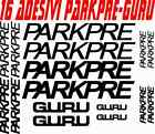 KIT 16 PARKPRE GURU BICI STICKERS PARKPRE GURU BIKE