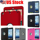 USA Shockproof Armor Military Heavy Duty Hard Case Cover For iPad mini 1 / 2 / 3