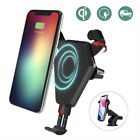 Qi Wireless Car Fast Charger Phone Mount Holder for iPhone 8 X Samsung Galaxy US