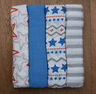Aden Anais Baby Boy Swaddle Blanket ~ Blue, Gray, White & Or