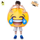 2018 New Cry Laugh Emoji Costume Unisex Kid Funny Cry Laugh Emoticon Fancy Dress