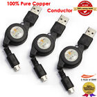 Retractable Micro USB+Data Charger Cable for Samsung Galaxy