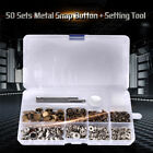12/15/17mm Snap Fasteners/Popper Press Stud Box Kit Sewing Leather Button + Tool