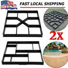 DIY Driveway Paving Pavement Stone Mold Concrete Stepping Pathmate Mould Paver B image