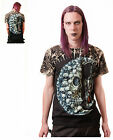Gothic Skull Moon Sand Timer T - Shirt With Rivets Size M, L