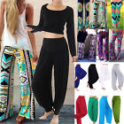 Women Boho Baggy Wide Leg Harem Pants Yoga Dance Palazzo Long Trousers Plus Size