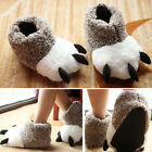 New Womens Mens Novelty Animal Bear Claws Winter Warm Plush Slippers Indoor