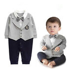 Infant Baby Boy Party Gentleman Clothes Romper Jumpsuit Bodysuit Formal Outfit