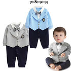 Внешний вид - Infant Baby Boy Party Gentleman Clothes Romper Jumpsuit Bodysuit Formal Outfit