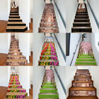 13/6Pcs 3D Selfadhesive Staircase Stair Riser Floor Sticker DIY Wall Decal